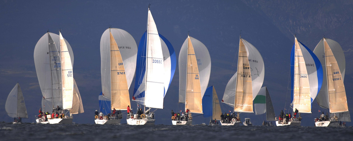 Fleet of Yachts at Largs Regatta Week 2012, Photo by Marc Turner