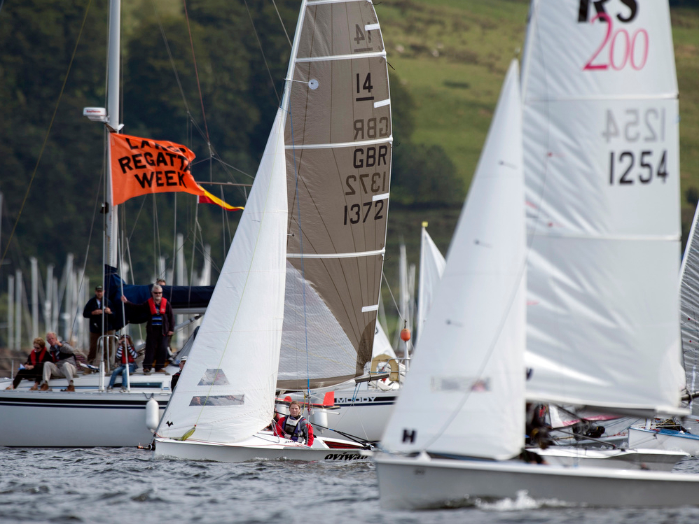 Dinghy Racing at Largs Regatta Week Photo by Marc Turner