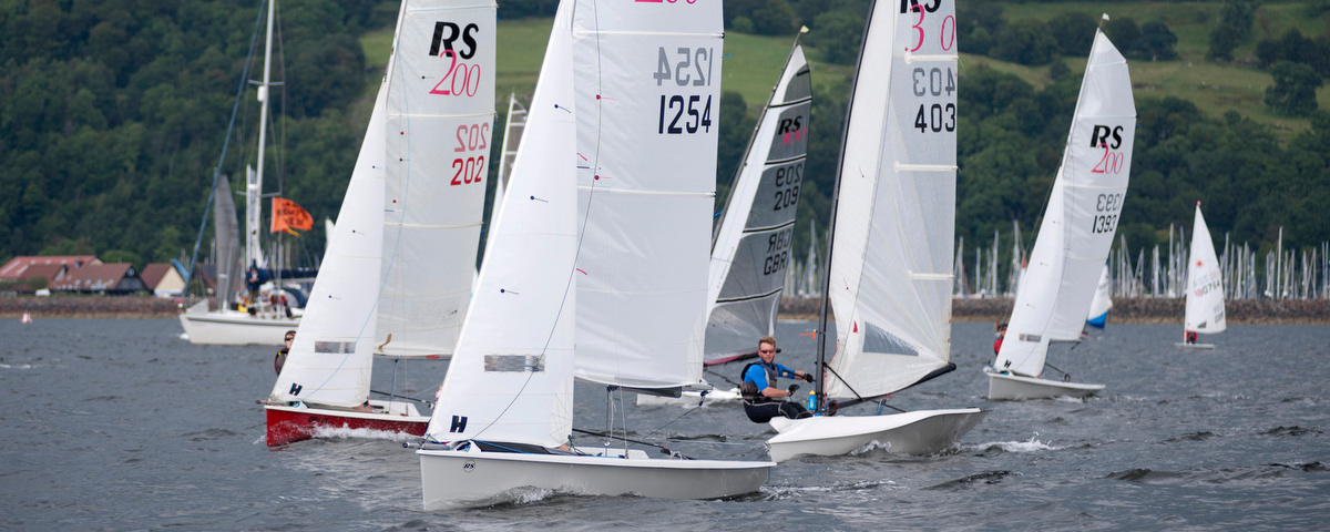 Dinghies Racing at Largs Regatta Week 2012, Photo by Marc Turner