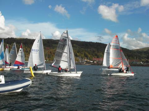 Boats racing in light winds