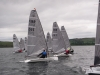 Fleet of boats starting a race